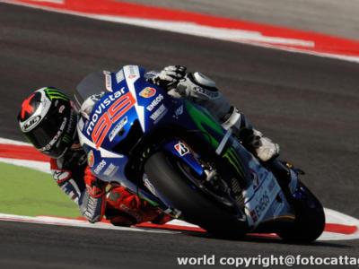 MotoGP, GP Valencia 2015, prove libere 2: Lorenzo avanti a tutti, Valentino Rossi 4° e bene sul passo gara