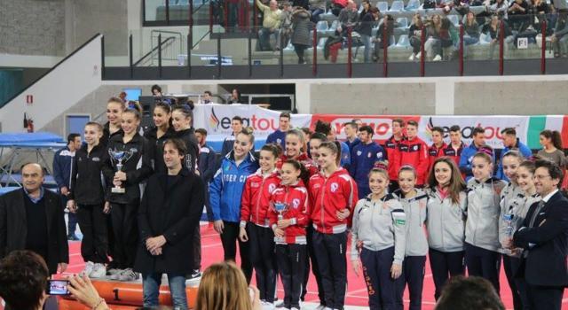 FOTO – Ginnastica, Serie A1 – Un podio rivoluzionario: materassini Air Track, vincitrice a sinistra e…
