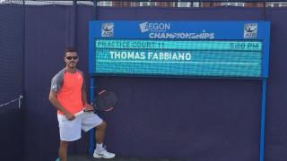 Tennis, ATP Eastbourne 2017: la pioggia salva Thomas Fabbiano. Tornerà in campo domani sotto di un set