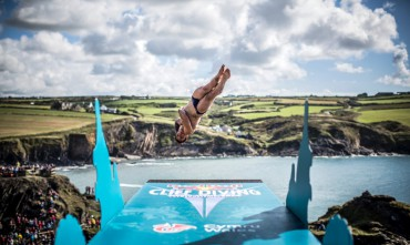Tuffi grandi altezze, World Series Red Bull 2017: De Rose 8° a Inis Mor