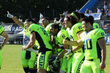 Football americano, Big Six 2017: i Seamen Milano sconfiggono i Berlino Rebels nella prima giornata
