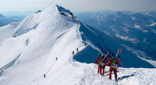 """Sci alpinismo: sabato 22 aprile il Trofeo Mezzalama, ultima tappa de """"La Grande Course"""""""