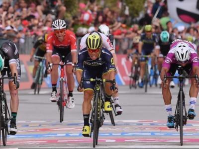 Giro d'Italia 2017: Caleb Ewan vince al fotofinish ad Alberobello, secondo Fernando Gaviria