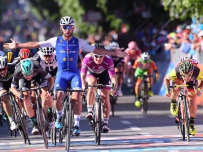 Giro d'Italia 2017: nella seconda vittoria di Gaviria si fa vedere l'azzurro Jakub Mareczko
