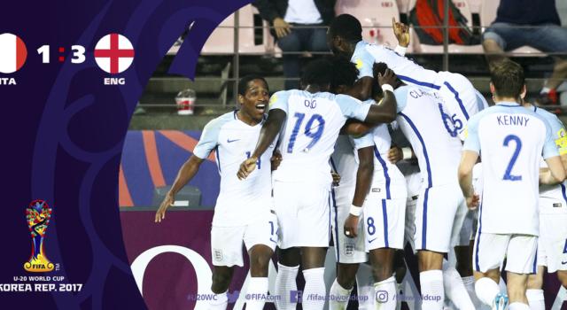 Calcio, Mondiali Under 20 2017, Italia-Inghilterra 1-3: il sogno finisce qui, azzurrini sconfitti in rimonta