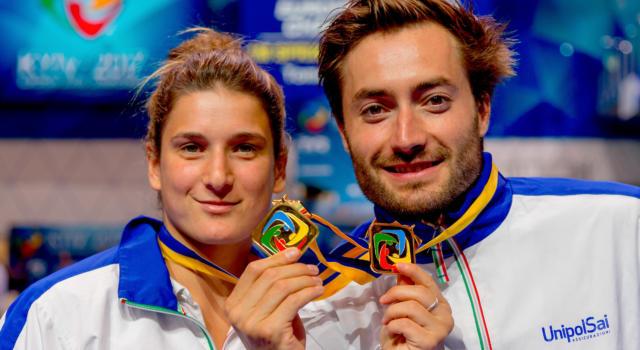 Tuffi, Grand Prix Bolzano 2017: Elena Bertocchi sorride con il sincro misto, bis d'oro con Verzotto