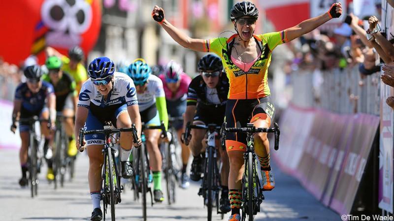 Marta Bastianelli vince la nona tappa del Giro Rosa, terza Giorgia Bronzini