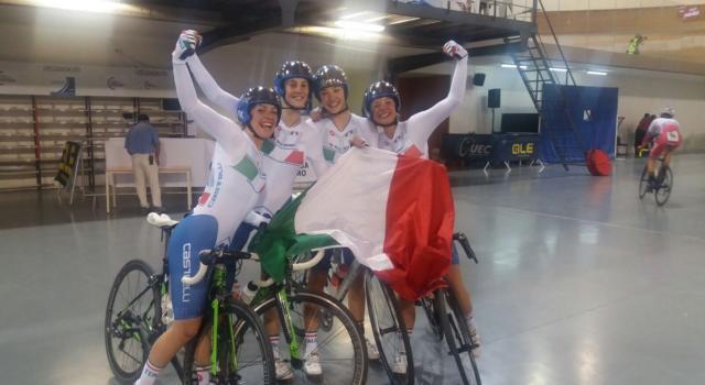 Ciclismo su pista, Europei U23 e Juniores 2017: l'Italia parte col botto, arrivano 7 medaglie da Anadia