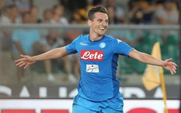 Calcio, Serie A 2017-2018: il Napoli supera l'Hellas Verona 3-1 con reti di Milik e Ghoulam