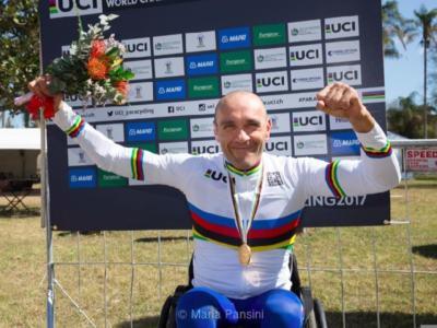 """Handbike, Luca Mazzone: """"Nonostante l'età, ce la metterò tutta per arrivare a Tokyo. E non vedo l'ora di incontrare Sagan in Cina…"""""""