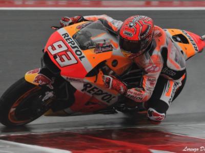MotoGP, Warm-Up GP Misano 2017: Marc Marquez mago della pioggia davanti a Petrucci e Baz. Dovizioso non forza e chiude ottavo