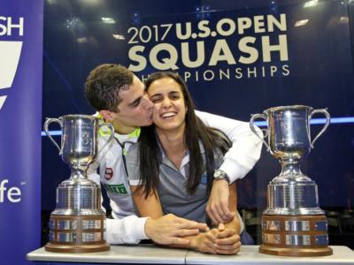 Squash: scenario da favola, una coppia di sposi trionfa agli US Open 2017