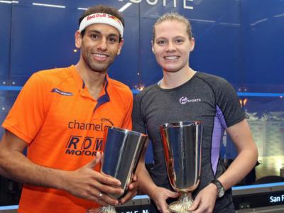 Squash: Mohamed El Shorbagy e Sarah-Jane Perry vincono l'Oracle Netsuite Open 2017