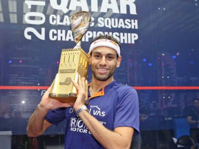 Squash: Mohamed El Shorbagy trionfa al Qatar Classic 2017, Yuri Farneti battuto in Francia