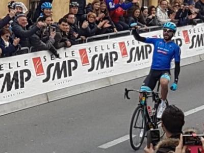 Trofeo Laigueglia 2018: successo in solitaria di Moreno Moser, che stacca tutti sull'ultima salita. Sul podio anche Totò e Busato