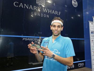 Squash: Mohamed El Shorbagy trionfa al Canary Wharf Classic 2018
