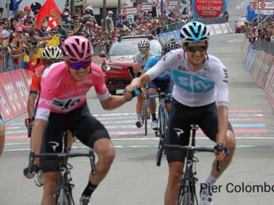 Giro d'Italia 2018, risultato ventesima tappa: Chris Froome controlla Dumoulin e conquista la Corsa Rosa. Festeggia Nieve