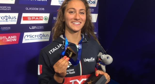"""Nuoto, Simona Quadarella: """"Vorrei essere più forte di Katie Ledecky! Paragoni con Federica Pellegrini? Devo vincere quanto lei…"""""""