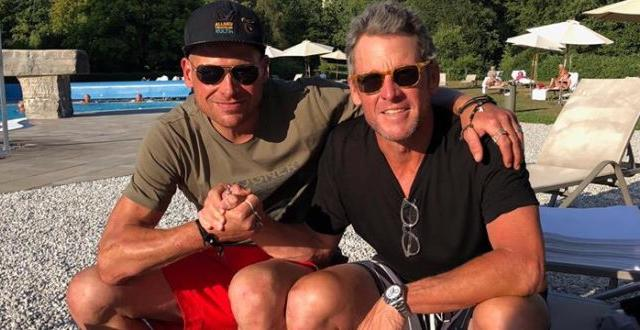 """FOTO Lance Armstrong raggiunge Jan Ullrich: """"Ha bisogno del mio aiuto, usciamo da questo brutto periodo"""""""
