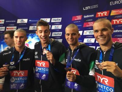 Nuoto, Mondiali 2019: super 4×200 sl maschile azzurra in finale con il miglior crono! Grande prova del quartetto italiano