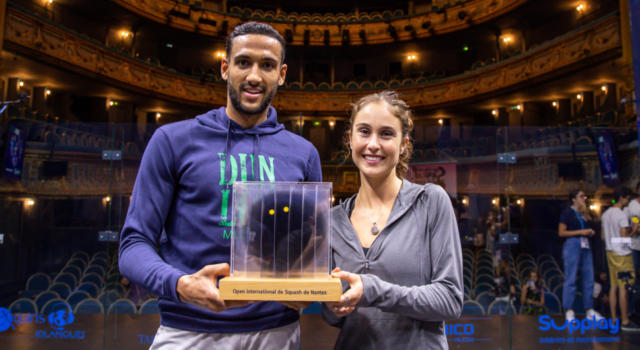 Squash: Declan James e Nele Gilis si impongono a Nantes