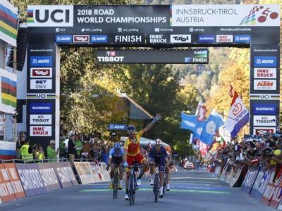 Ciclismo, Mondiali 2018: le pagelle della prova in linea. Alejandro Valverde in trionfo, Gianni Moscon super, male Alaphilippe e la Colombia