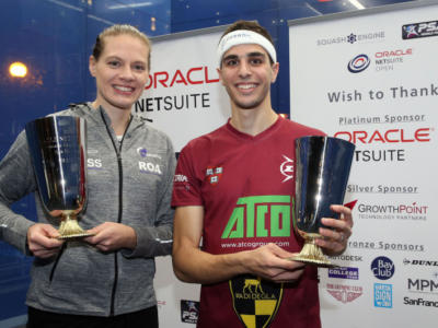 Squash, PSA World Tour 2018: Ali Farag e Sarah-Jane Perry trionfano a San Francisco