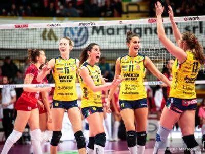 Volley femminile, Serie A1 2019: 16^ giornata, Conegliano supera Monza nella sfida più attesa. Vittorie per Novara e Scandicci