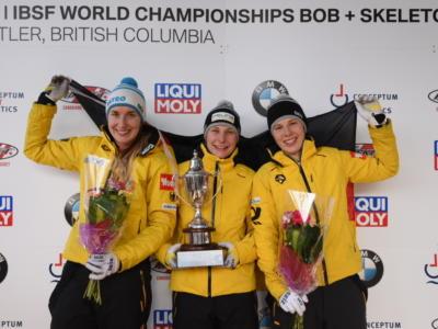 Skeleton femminile, Mondiali 2019: Tina Hermann d'oro nella tripletta tedesca a Whistler