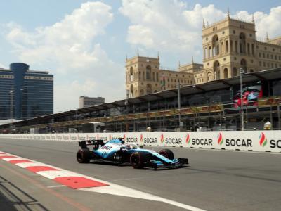 F1, GP Azerbaijan 2019: il telaio della Williams di Russell danneggiato. Il britannico in pista domani