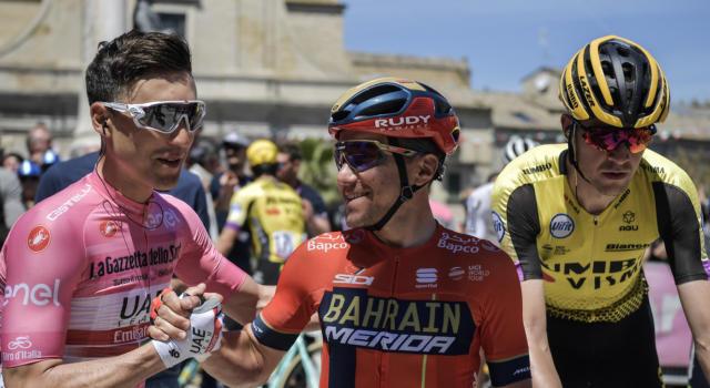 Classifica Giro d'Italia 2019, settima tappa: Valerio Conti conserva la maglia rosa, distacchi invariati tra i big