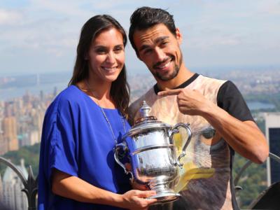 Tennis: è nata Farah, figlia di Fabio Fognini e di Flavia Pennetta. Fiocco rosa per loro