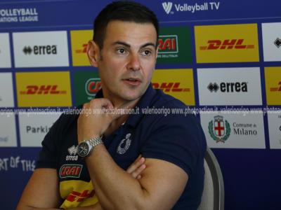 """Volley, Gianlorenzo Blengini: """"Sono soddisfatto dell'attenzione dei ragazzi in attacco"""""""
