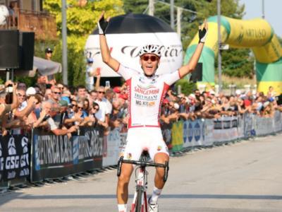 Ciclismo, 44°Gp Sportivi di Poggiana 2019: arriva la seconda di Fabio Mazzucco, sul podio Aleotti e Zana