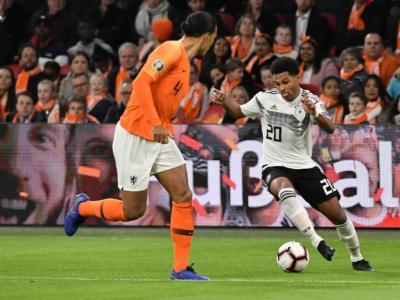 LIVE Germania-Olanda 2-4 calcio, Qualificazioni Europei 2020 in DIRETTA: Gnabry apre ma l'uragano olandese si abbatte nel secondo tempo vincendo la partita