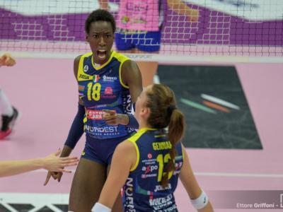Volley femminile, Serie A1 2019-2020: quarta giornata. Conegliano suda a Caserta, +2 su Novara. Scandicci batte Monza, ok Firenze
