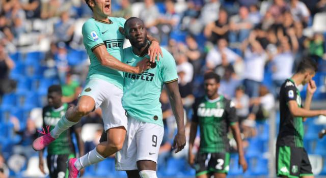 Sassuolo-Inter 3-4, Serie A: i nerazzurri tornano alla vittoria, decidono le doppiette di Lukaku e Martinez