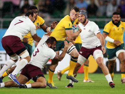 Rugby, Mondiali 2019: Australia-Georgia 27-8, sotto la pioggia vincono i Wallabies