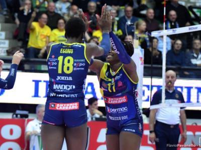 Volley femminile, Serie A1 2019-2020: Conegliano non si ferma più, sesta vittoria consecutiva! Egonu e Sylla stendono Bergamo