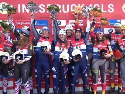 Slittino, ESTASI ITALIA! Gli azzurri trionfano nel team-relay a Igls! Vittoria sensazionale, battute Austria e Germania!