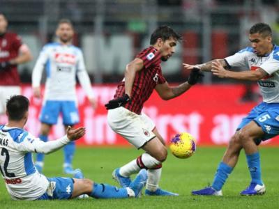 Highlights Milan-Napoli 1-1: video, gol e sintesi. Bonaventura risponde a Lozano per un punto che cambia poco per le due rivali