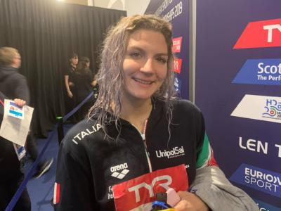 Nuoto, Europei vasca corta 2019: Ilaria Cusinato conquista il bronzo sui 400 misti