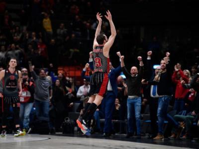 Basket: Olimpia Milano, rimonta da urlo al Forum! Da -20 alla vittoria, Bayern Monaco sconfitto nel finale della 22a di Eurolega 2020