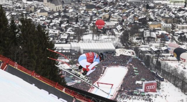 LIVE Sci alpino, Prova Discesa Kitzhbuhel in DIRETTA: Cochran-Siegle fa paura, Paris non spinge