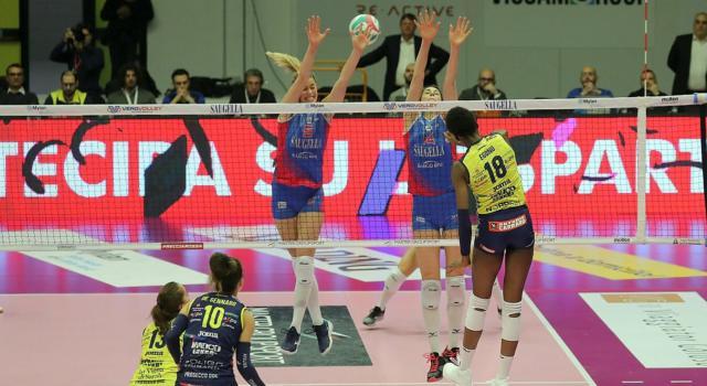 Volley femminile, Serie A1: 14^ giornata. Conegliano espugna Monza, +6 su Busto Arsizio. Ok Novara e Scandicci