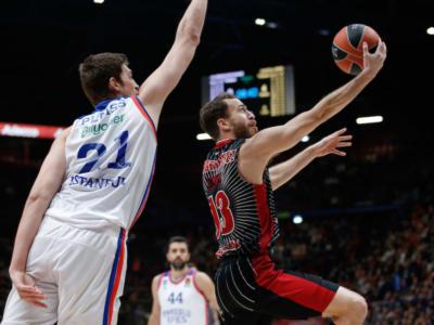 Basket, Eurolega 2020: i risultati di martedì 14 gennaio. Cska e Maccabi battono le spagnole nei big match