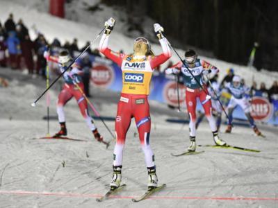 Sci di fondo: Therese Johaug contiene la rimonta di Oestberg, podio tutto norvegese nella Storlien-Meraker dello Ski Tour 2020