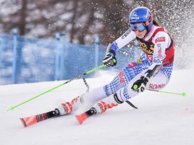 Sci alpino, Gigante Kranjska Gora: Petra Vlhova fa paura nella prima manche, Federica Brignone deve rimontare