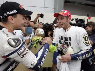 """Moto GP, Jorge Lorenzo incorona Valentino Rossi: """"E' il Jordan delle moto"""""""