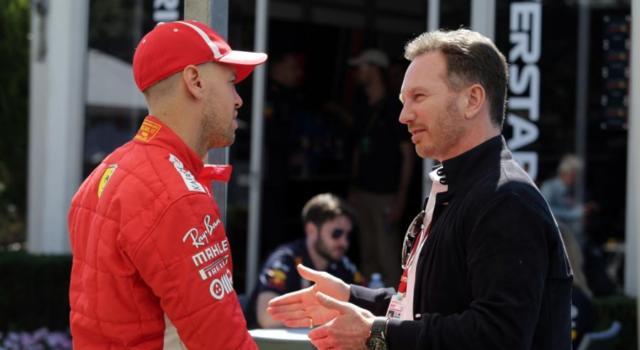 """F1, Christian Horner difende Sebastian Vettel: """"La Ferrari è stata spietata, un suo ritiro sarebbe una grave perdita"""""""